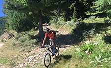 Downhill biking from Vihren hut image.