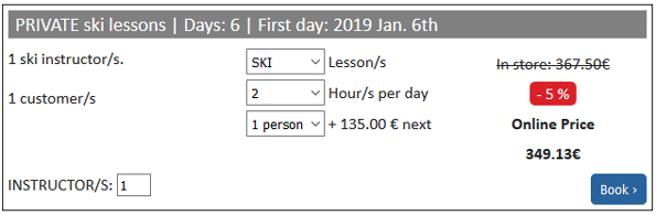 Image Individual ski lessons offer