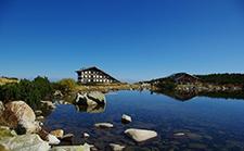 Mountain Hut and Lake Bezog image.