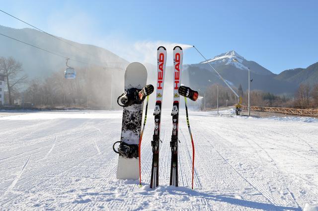Image ski and snowboard equipment.